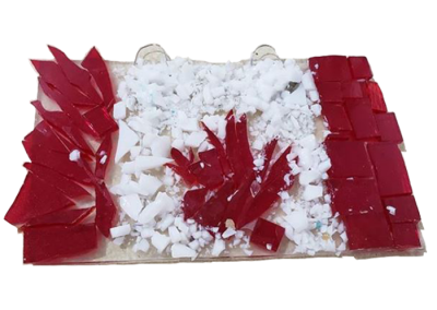Canada Flag – Fused Glass