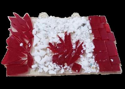 Canada Flag – Fused Glass