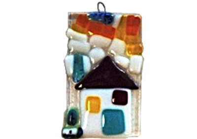 My House – Fused Glass