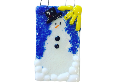 Snowman – Fused Glass