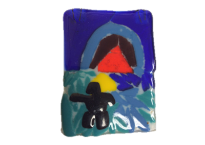 Inukshuk – Fused Glass