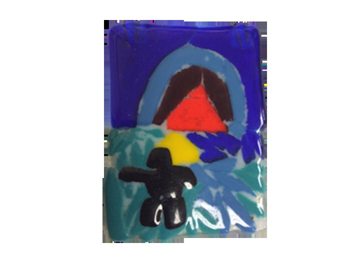 Inukshuk – Fused Glass