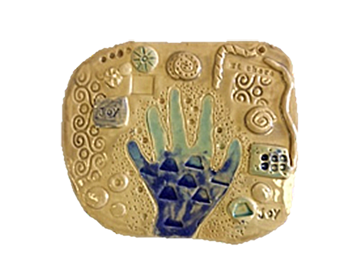 Textured Hand Plaque