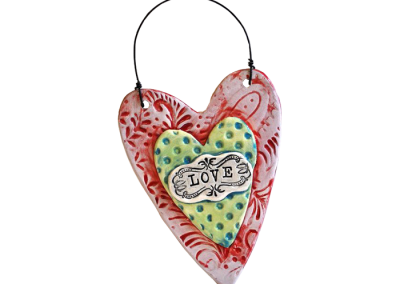 Textured Heart Plaque