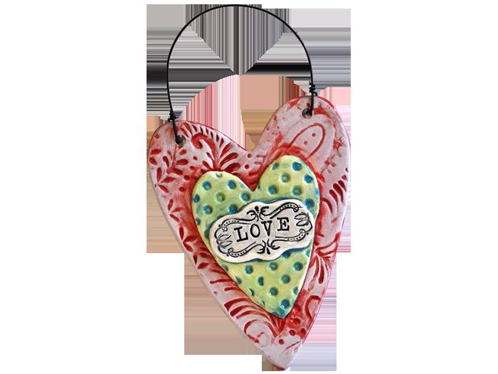 Textured Heart Plaque