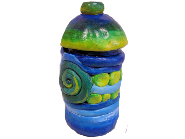Coil Pot with Lid