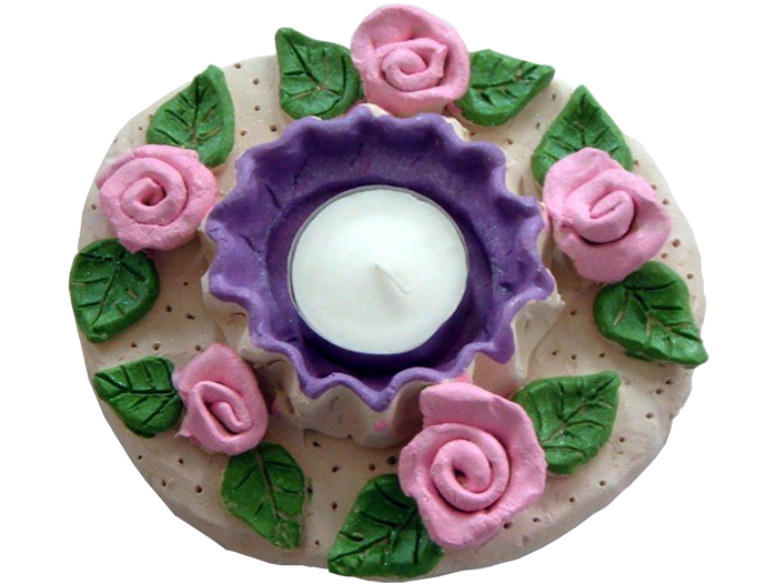 Flower Decorated Tea Light
