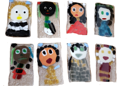 Self Portrait – Fused Glass