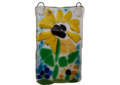 Van Gogh Inspired Sunflowers – Fused Glass